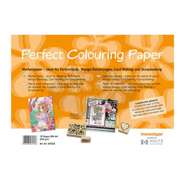 10 papeles de rotulacion perfect colouring paper