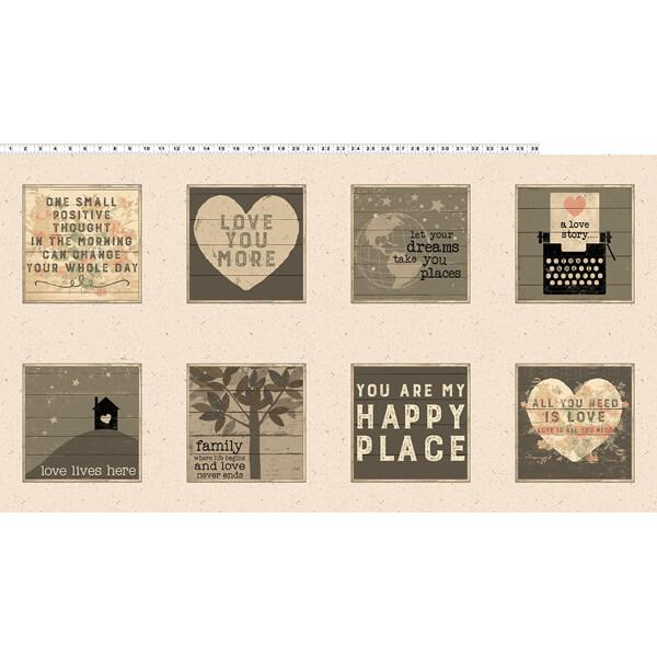 Panel con imagenes de amor