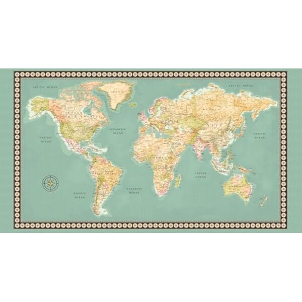 Panel de Patchwork Mapa del Mundo
