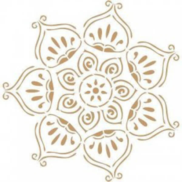 Stencil Decorativo Rosetón