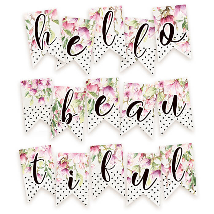 die cuts guirnalda hello beautiful
