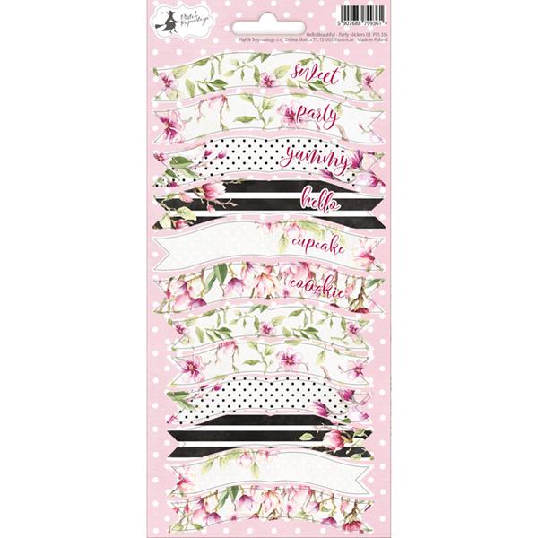 pegatinas de banderolas flores