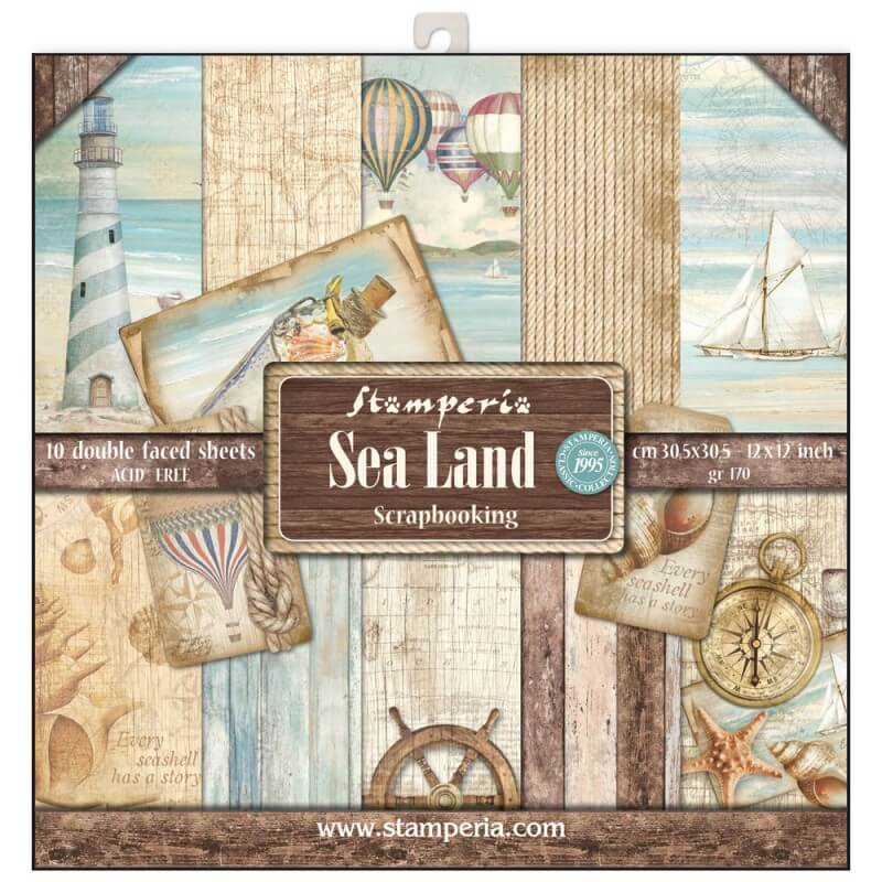 kit de papeles de scrap sea land