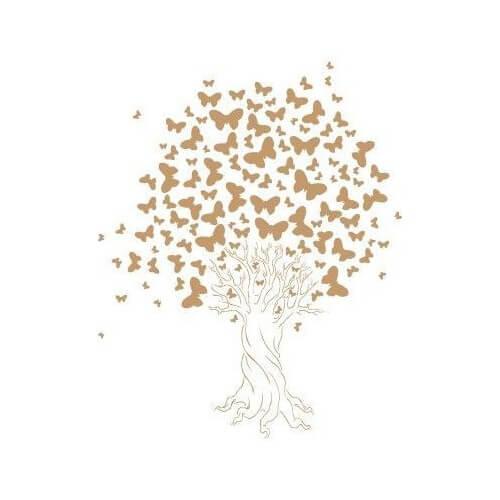 Stencil Árbol de mariposas