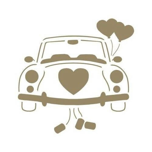 Stencil coche bodas