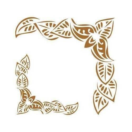 Stencil esquinas hojas
