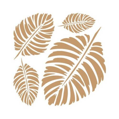 Stencil fondo hojas