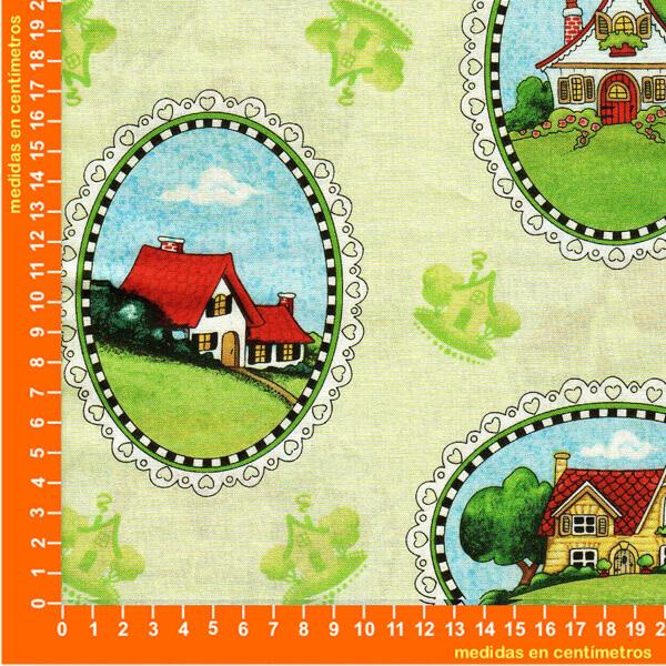 Tela patchwork casas dise ado por mary engelbreit - Casas de patchwork ...
