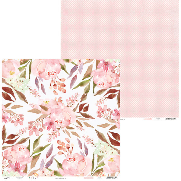 papel decorado 12x12 love in bloom