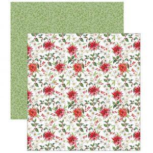 papel scrapbooking flores de pascua dayka