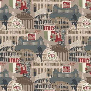 tela de patchwork destinations roma