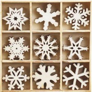 copos nieve madera