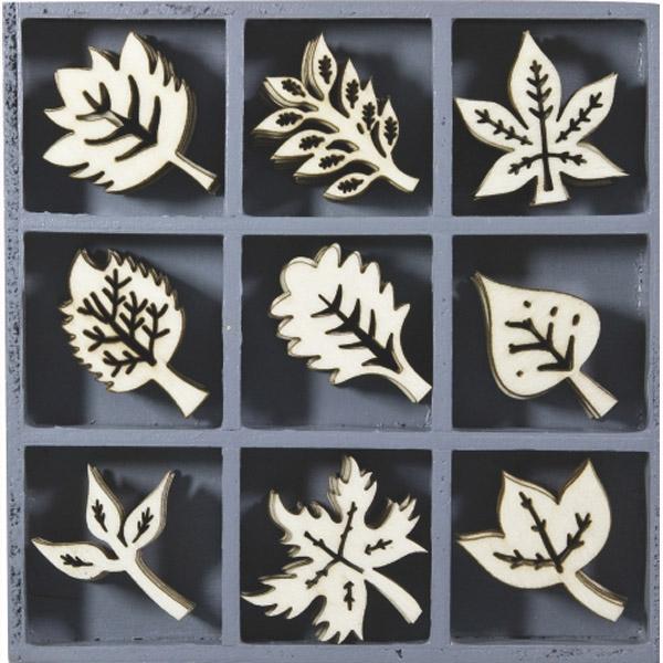 decoracion maderas hojas