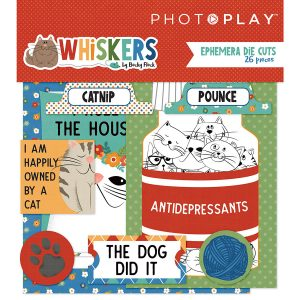 ephemera die cuts whiskers