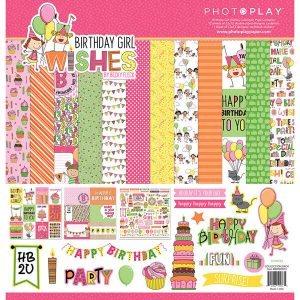 kit papeles birthday girl wishes