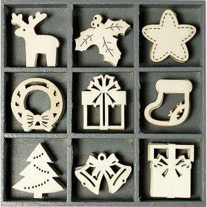 Adornos madera navidad