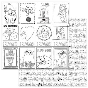 papel 12x12 color me cats