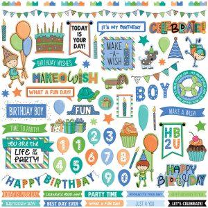 stickers birthday boy wishes