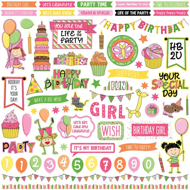 stickers birthday girl wishes