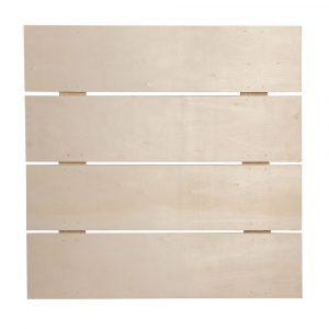 marco con tablas de madera