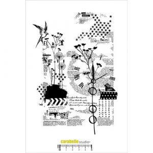 sello caucho collage nature