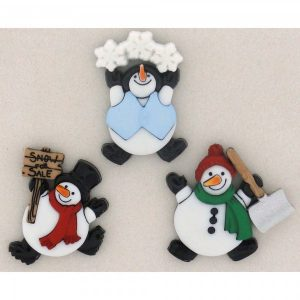 Botones Roly Poly Snowman