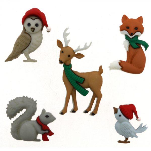 Botones animales navidad