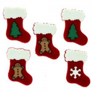botones botas navidad