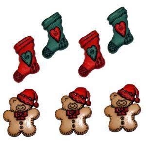 botones botas y osos navidad