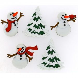 botones muñeco nieve