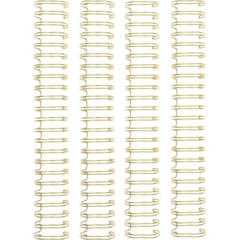 wires para encuadernar oro