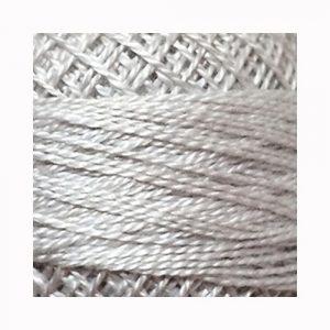 Perlé de algodón Valdani N.117 White Smoke Gray