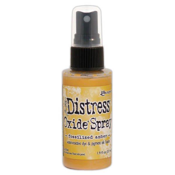 Distress Oxide Spray fosilized amber