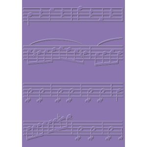 carpeta de embossing musical notes cart us
