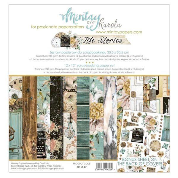 kit 12x12 life stories de mintay by karola