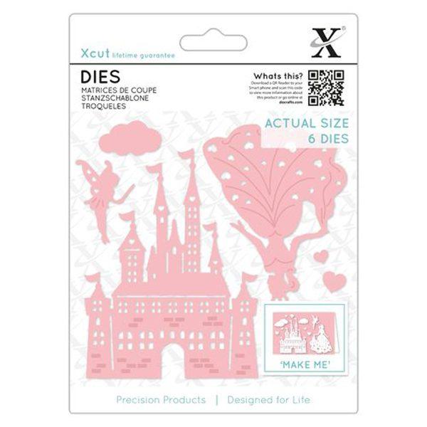 troquel princess &castle x cut docrafts
