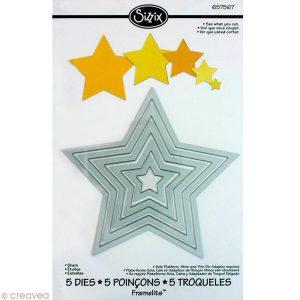 troqueles estrellas sizzix