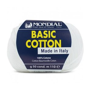 hilo mondial basic cotton blanco