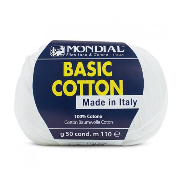 hilo mondial basic cotton blanco