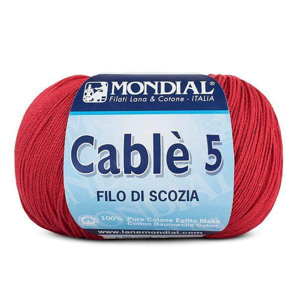 lana extrafinal cablè 5 rojo