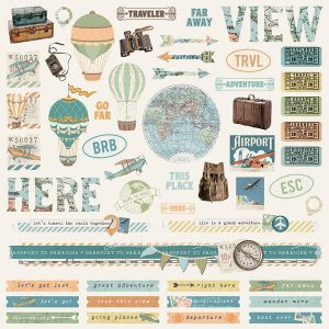 Stickers Simple Vintage Traveler