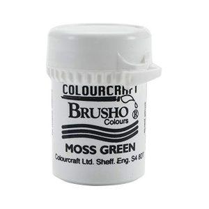 brusho moss green