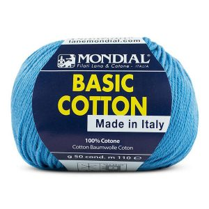 hilo mondial basic cotton azul