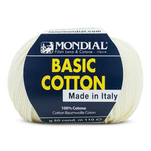 hilo mondial basic cotton crema