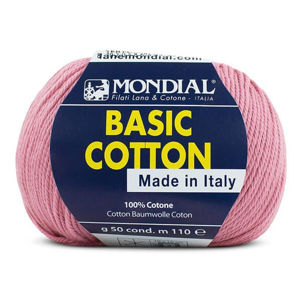 hilo mondial basic cotton rosa
