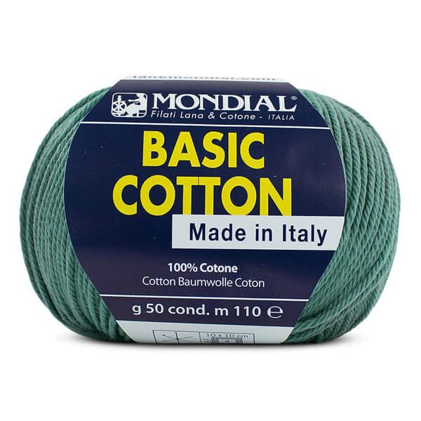 hilo mondial basic cotton verde botella