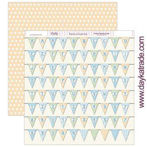 papel 12x12 banderines niños dayka