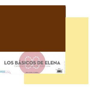 papel 12x12 crema vintage chocolate caliente