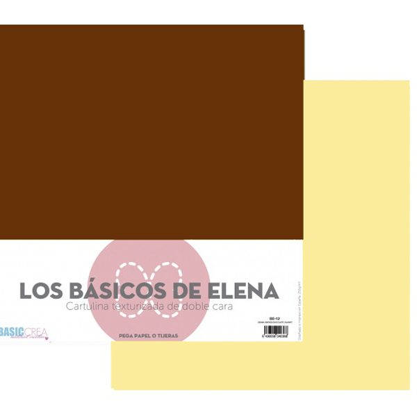 papel 12x12 crema vintage chocolate caliente