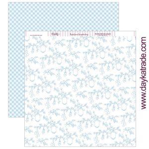papel 12x12 floral con pajaritos